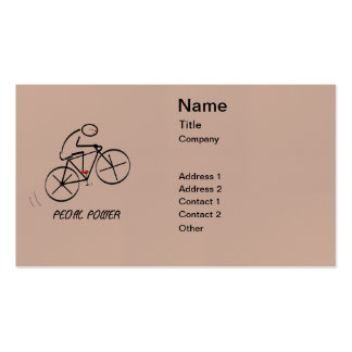 """Fun Bicyclist Design with """"Pedal Power"""" text Pack Of Standard Business Cards"""