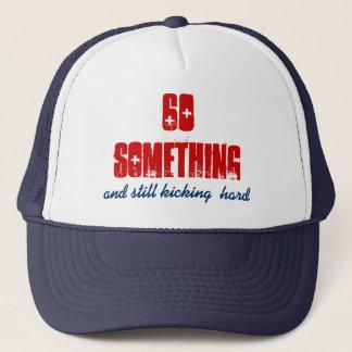 Fun BIrthday 60 Something Blue Red Trucker Hat