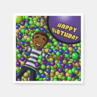 """Fun"" Birthday Paper Napkins"