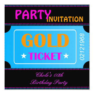 Fun Birthday Party Girls Teen Tweens Hot Pink 13 Cm X 13 Cm Square Invitation Card