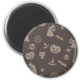 Fun Black Grey Halloween Design Fridge Magnet