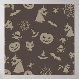 Fun Black Grey Halloween Design Posters