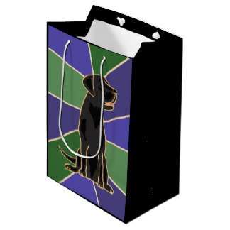 Fun Black Labrador Retriever Gift Bag