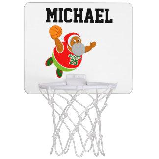 Fun Black Santa Claus dunking a basketball, Mini Basketball Hoop