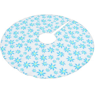 Fun Blue Floral Tree Skirt