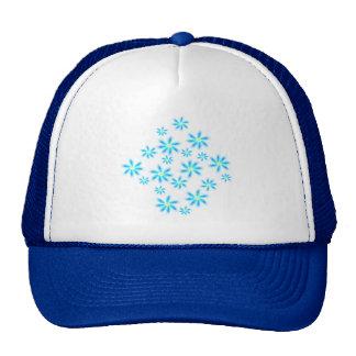Fun Blue Floral Trucker Hat