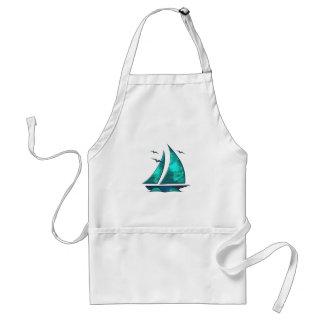 Fun Blue Sailboat Standard Apron