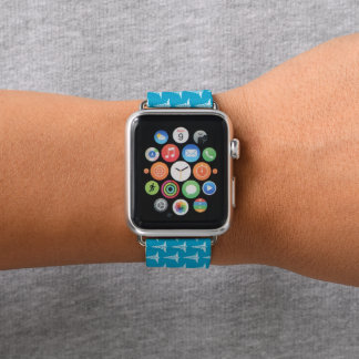 Fun blue white nurse pattern apple watch band