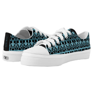 Fun Blue Xray Skeletons Printed Shoes