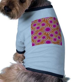 Fun Bold Spiraling Wheels Hot Pink Orange Pattern Pet Clothing