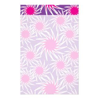 Fun Bold Spiraling Wheels Hot Pink Purple Pattern Stationery Design