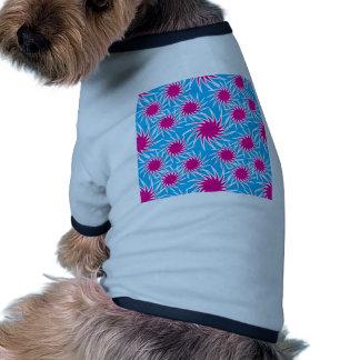 Fun Bold Spiraling Wheels Hot Pink Teal Pattern Dog Clothes