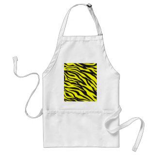 Fun Bold Yellow Zebra Stripes Wild Animal Print Aprons