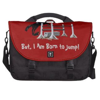 Fun Born to Jump Equestrian Laptop Commuter Bag