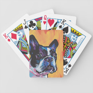 Fun Boston Terrier bright colorful Pop Art Bicycle Playing Cards
