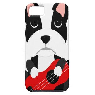Fun Boston Terrier Dog Playing Guitar iPhone 5 Case