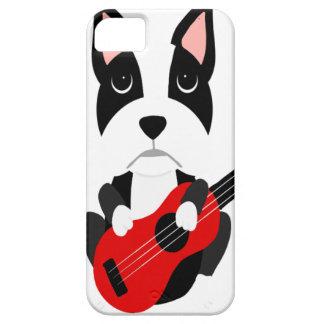 Fun Boston Terrier Dog Playing Guitar iPhone 5 Cover