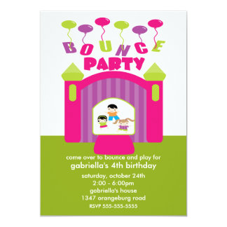 Fun Bounce House Birthday Party Card