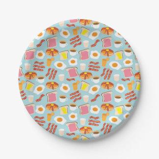 Fun Breakfast Brunch Party Pattern Paper Plate