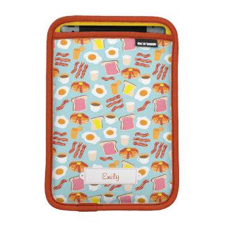 Fun Breakfast Food Illustrations Pattern iPad Mini Sleeve