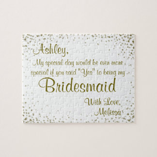 Fun Bridesmaid Invitation Jigsaw Puzzle