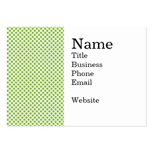 Fun Bright and Bold Green Dot Pattern Business Card
