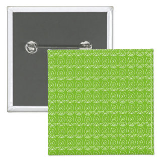 Fun Bright Green Doodle Pattern Button