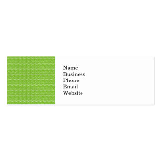 Fun Bright Green Doodle Pattern Business Card Templates