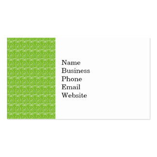 Fun Bright Green Doodle Pattern Business Card Template