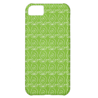 Fun Bright Green Doodle Pattern Case For iPhone 5C