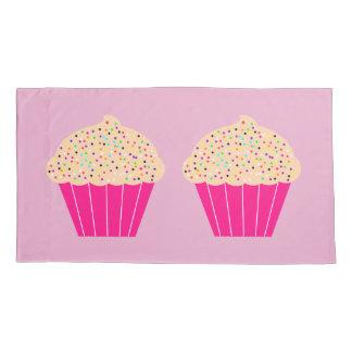 Fun, Bright Pink Cupcake Pillowcase
