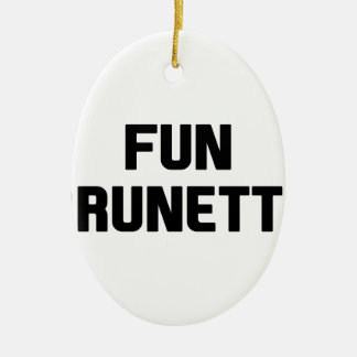 Fun Brunette Ceramic Ornament