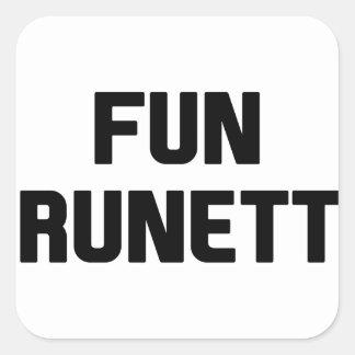 Fun Brunette Square Sticker