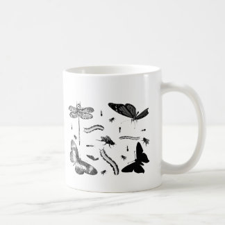 Fun Bug and Butterfly Print Insect Picture Design Coffee Mug