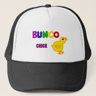 Fun Bunco Chick Art Trucker Hat