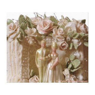 Fun Cake Decorating Ideas - Wedding Cake print Canvas Print