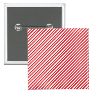 Fun Candy Cane Red and White Pattern Stripes Pinback Button