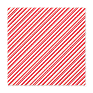 Fun Candy Cane Red and White Pattern Stripes Stretched Canvas Print