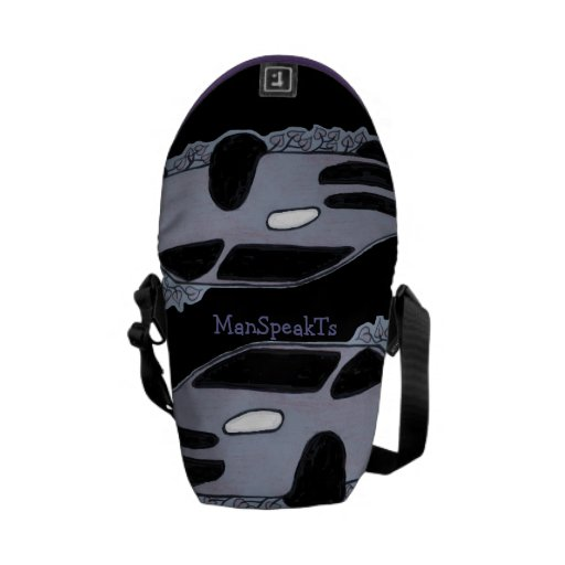 Fun Car Design Messenger Bag