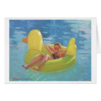 fun card with yellow rubber ducky