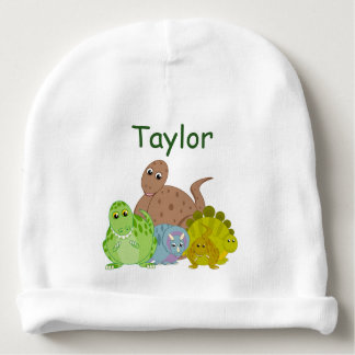 Fun cartoon of a group of Jurassic dinosaurs, Baby Beanie