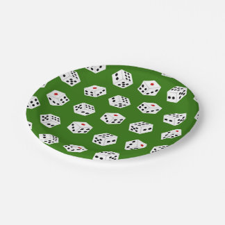 Fun Casino Dice pattern party paper plates