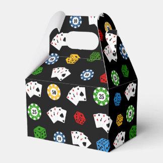Fun Casino pattern party favor box