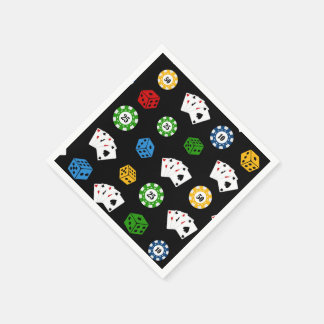 Fun Casino pattern party paper napkins