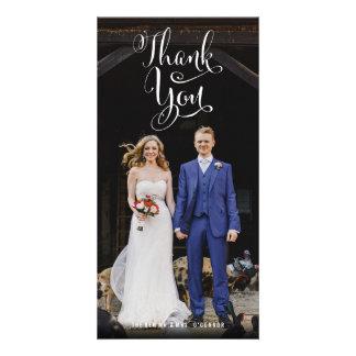 Fun Casual Wedding Thank You Photo Cards