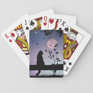 Fun Cat and Butterfly Playing Cards