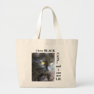 Fun Cat Tote i love black cats and i can not lie Canvas Bag