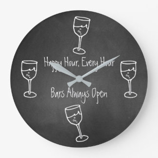 Fun Chalkboard Bar Wall Clock
