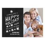 FUN CHALKBOARD HAPPY HOLIDAY PHOTO CARD PERSONALISED INVITATIONS