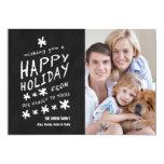 FUN CHALKBOARD HAPPY HOLIDAY PHOTO CARD PERSONALISED INVITATIONS